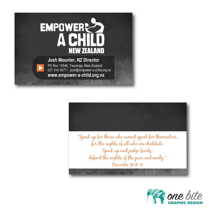 business card designs one bite graphic design